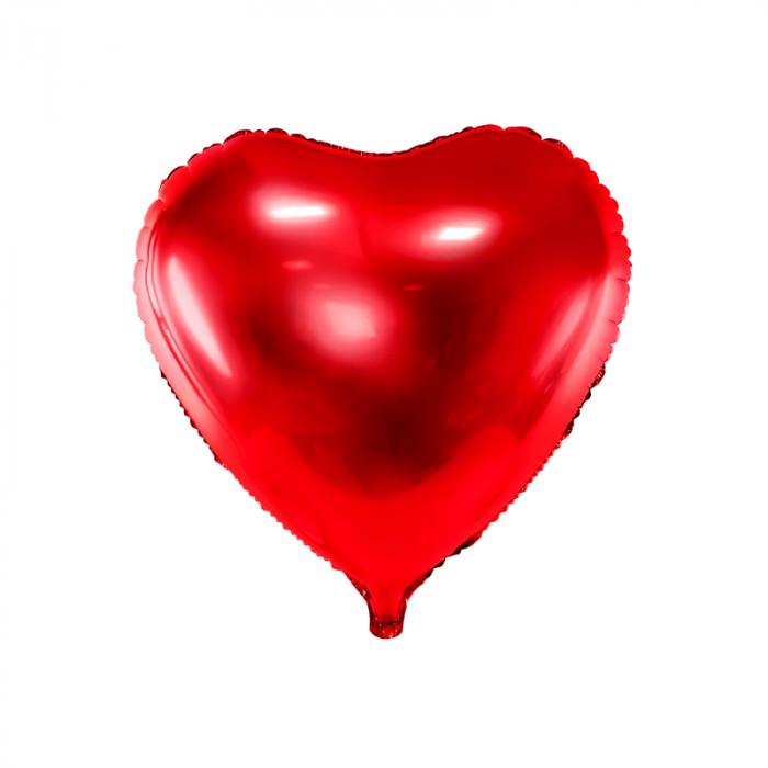 Balon Folie Inima, Rosu - 45 cm [0]