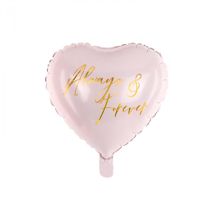Balon Folie Inima Roz, Always & Forever - 45 cm 0