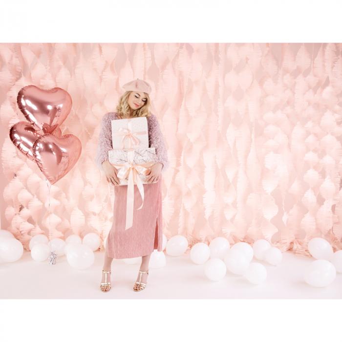 Balon Folie Inima, Roz Metalizat - 45 cm 2