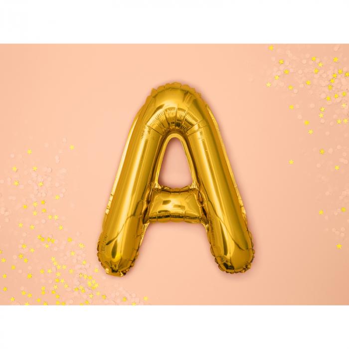 Balon Folie Litera A Auriu, 35 cm [1]