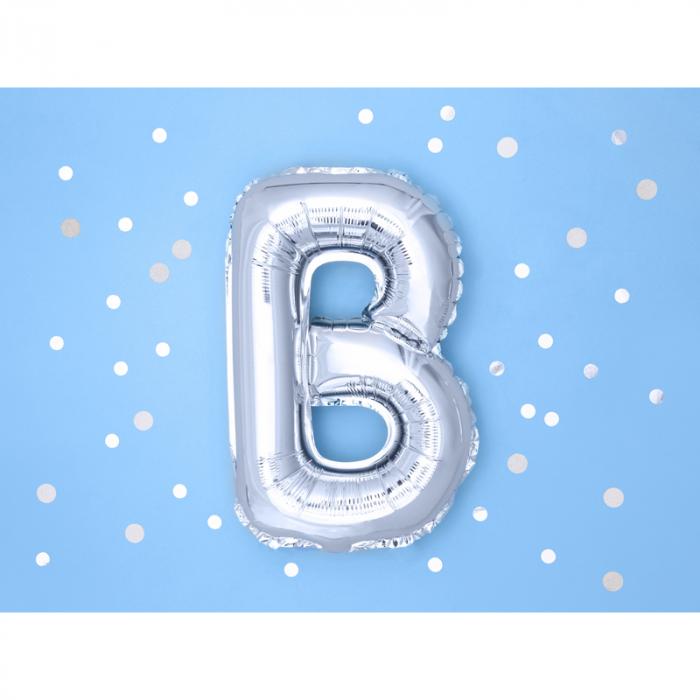 Balon Folie Litera B Argintiu, 35 cm 1