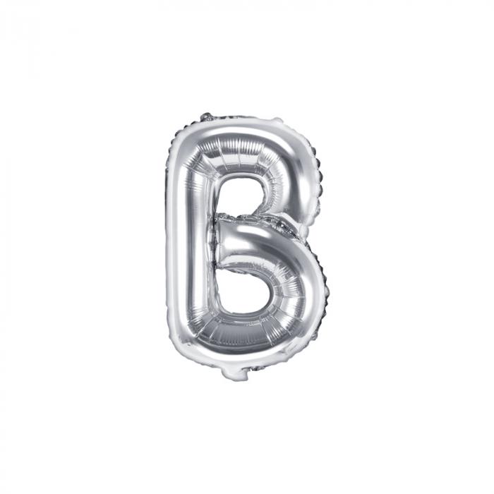 Balon Folie Litera B Argintiu, 35 cm 0