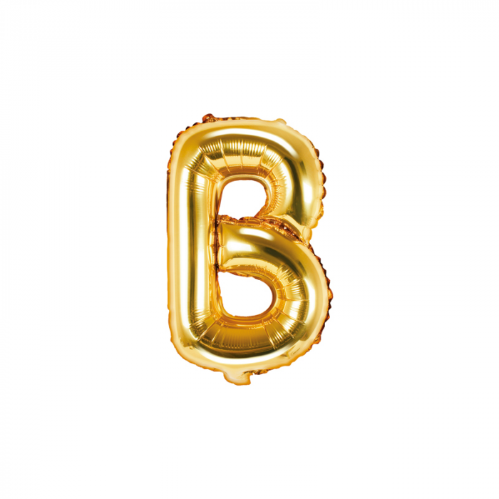 Balon Folie Litera B Auriu, 35 cm 0