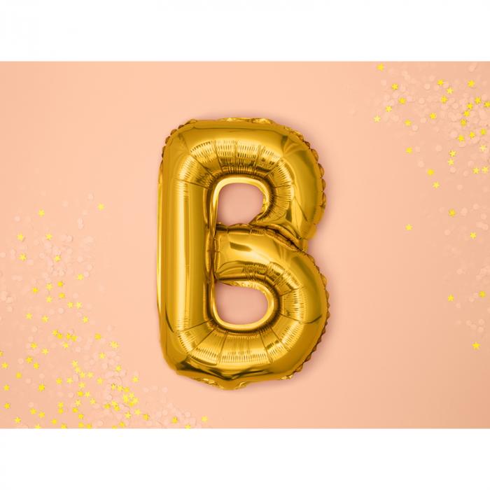 Balon Folie Litera B Auriu, 35 cm 1