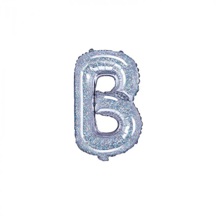 Balon Folie Litera B Holografic, 35 cm 0