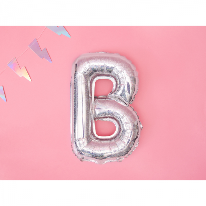 Balon Folie Litera B Holografic, 35 cm 1