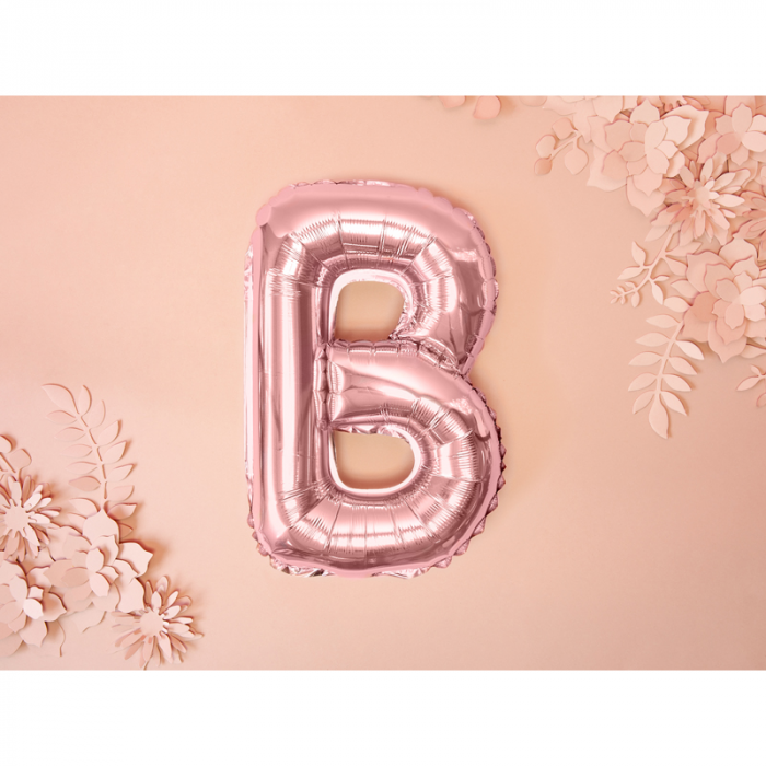 Balon Folie Litera B Roz, 35 cm [1]