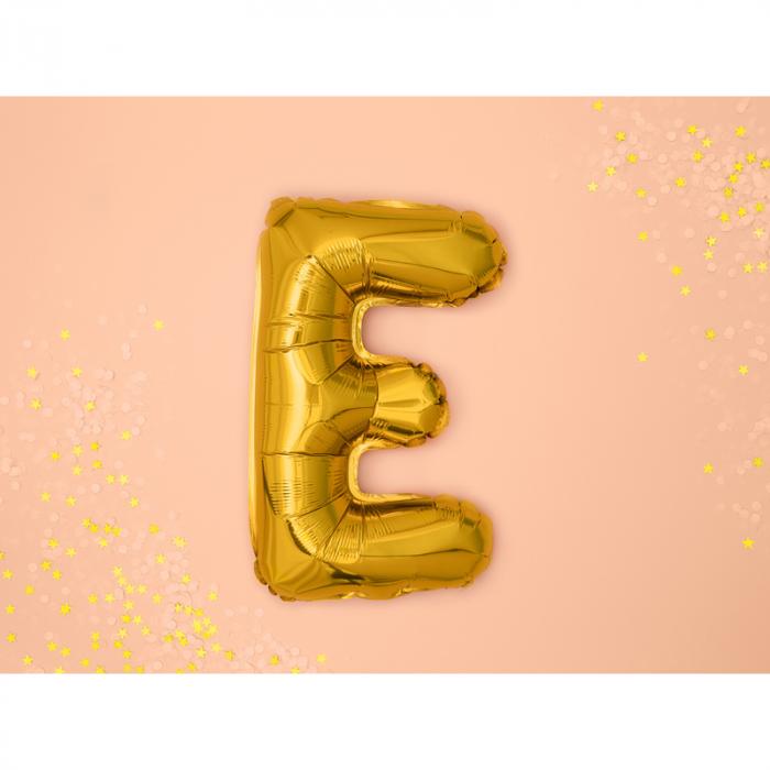 Balon Folie Litera E Auriu, 35 cm 1