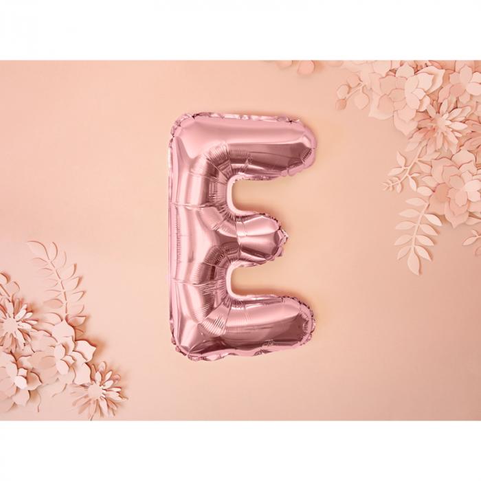 Balon Folie Litera E Roz, 35 cm 1