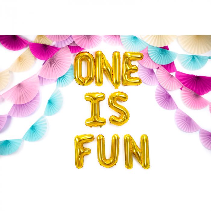 Balon Folie Litera F Auriu, 35 cm 2