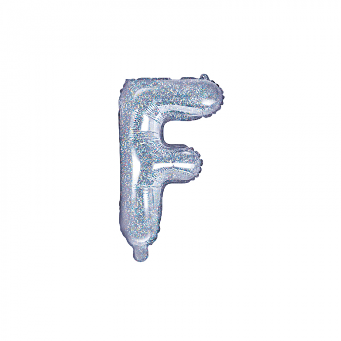 Balon Folie Litera F Holografic, 35 cm 0