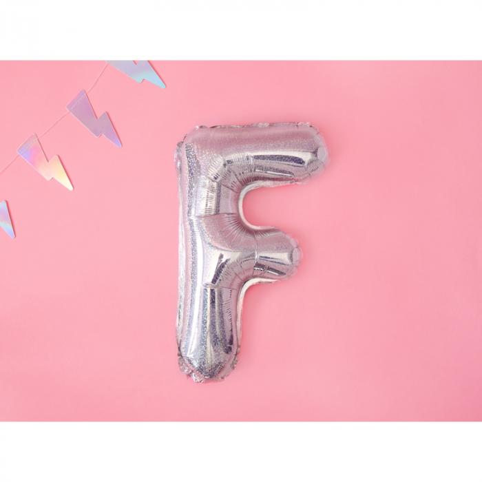 Balon Folie Litera F Holografic, 35 cm 1