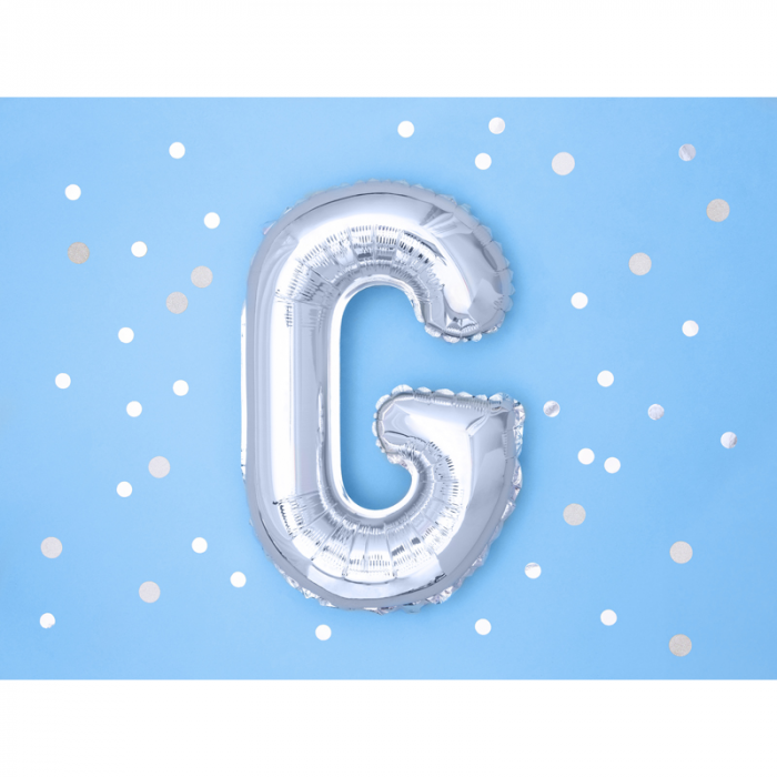 Balon Folie Litera G Argintiu, 35 cm [1]