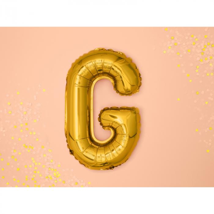 Balon Folie Litera G Auriu, 35 cm 1