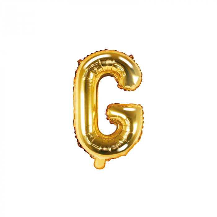 Balon Folie Litera G Auriu, 35 cm 0