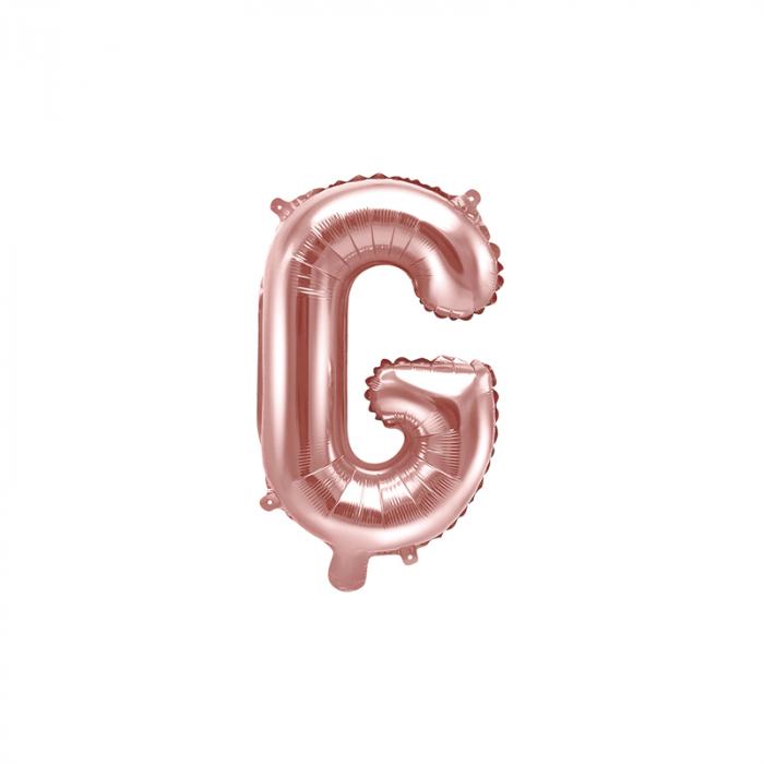 Balon Folie Litera G Roz, 35 cm 0