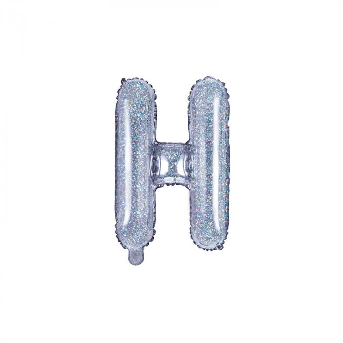 Balon Folie Litera H Holografic, 35 cm 0