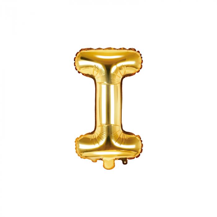 Balon Folie Litera I Auriu, 35 cm [0]