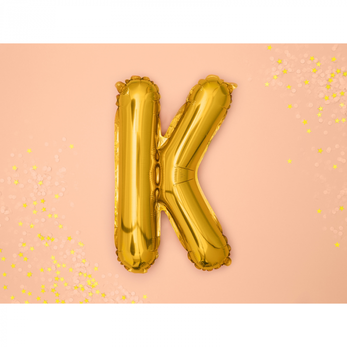 Balon Folie Litera K Auriu, 35 cm [1]