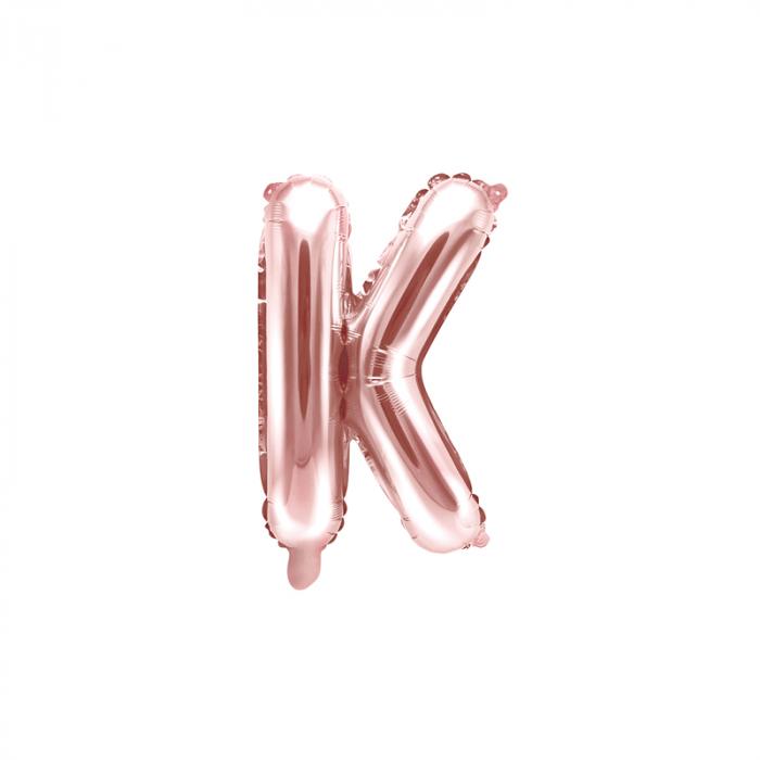Balon Folie Litera K Roz, 35 cm [0]