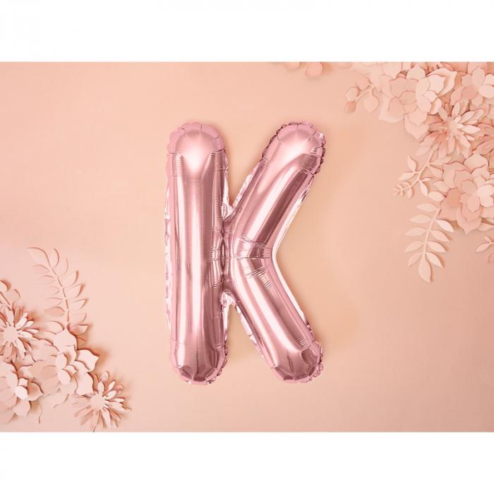 Balon Folie Litera K Roz, 35 cm [1]