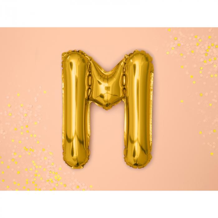 Balon Folie Litera M Auriu, 35 cm 1