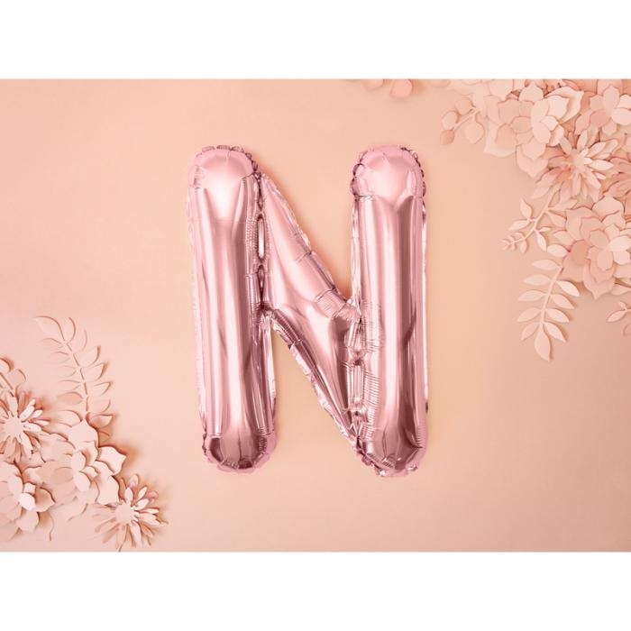 Balon Folie Litera N Roz 35 cm 1