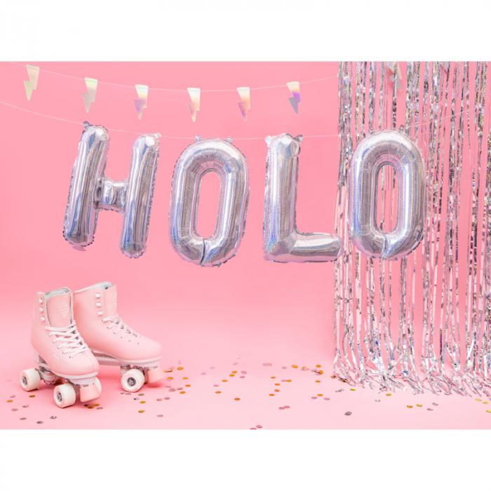 Balon Folie Litera O Holografic, 35 cm 2