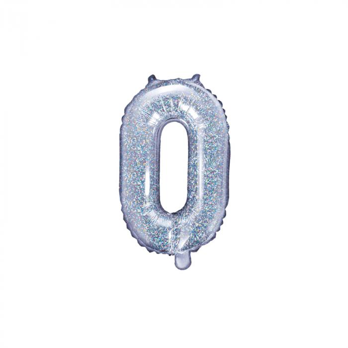 Balon Folie Litera O Holografic, 35 cm 0