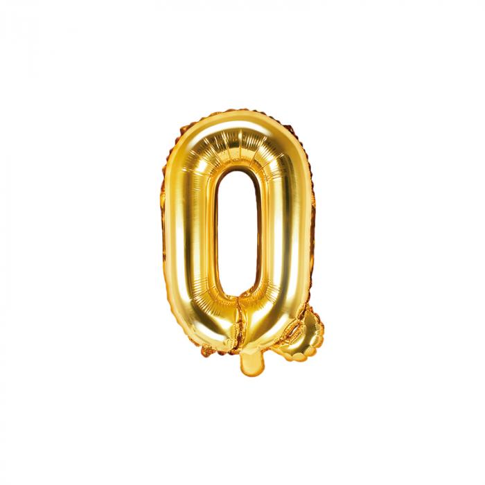 Balon Folie Litera Q Auriu, 35 cm [0]