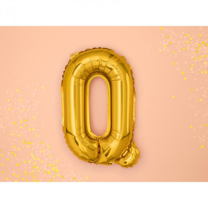 Balon Folie Litera Q Auriu, 35 cm [1]