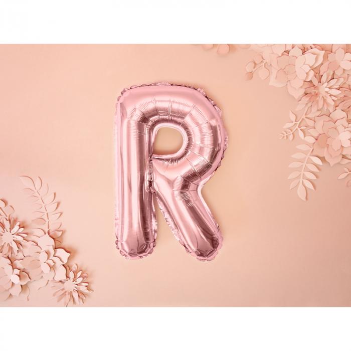 Balon Folie Litera R Roz 35 cm 1