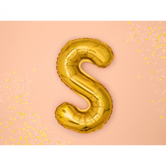 Balon Folie Litera S Auriu 35 cm 1