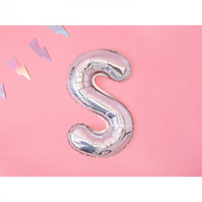 Balon Folie Litera S Holografic, 35 cm 1