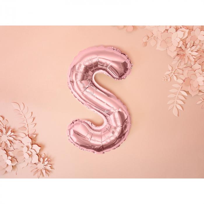 Balon Folie Litera S Roz, 35 cm 1
