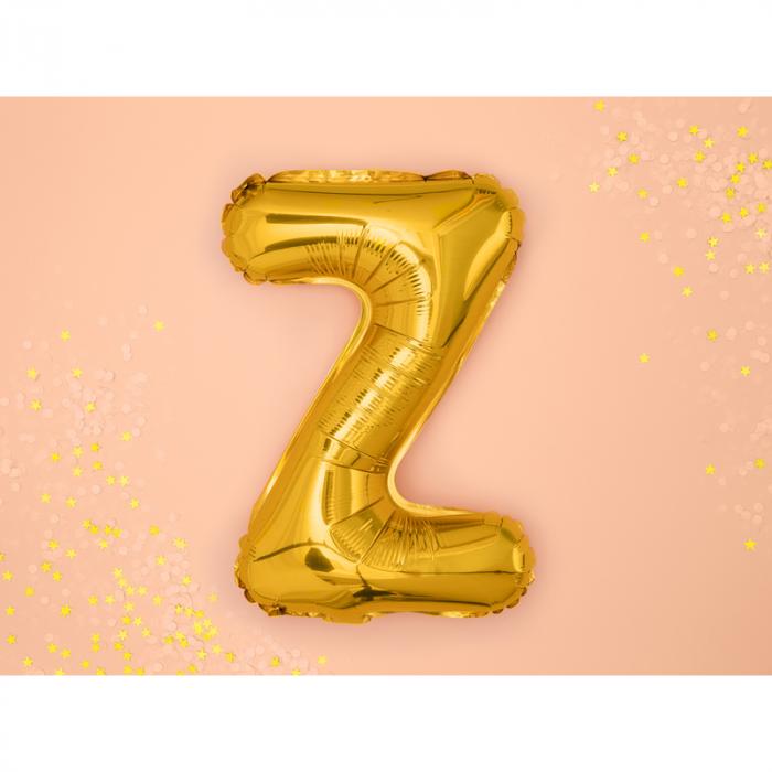 Balon Folie Litera Z Auriu, 35 cm 1