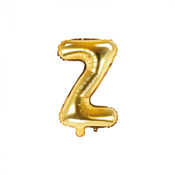 Balon Folie Litera Z Auriu, 35 cm 0