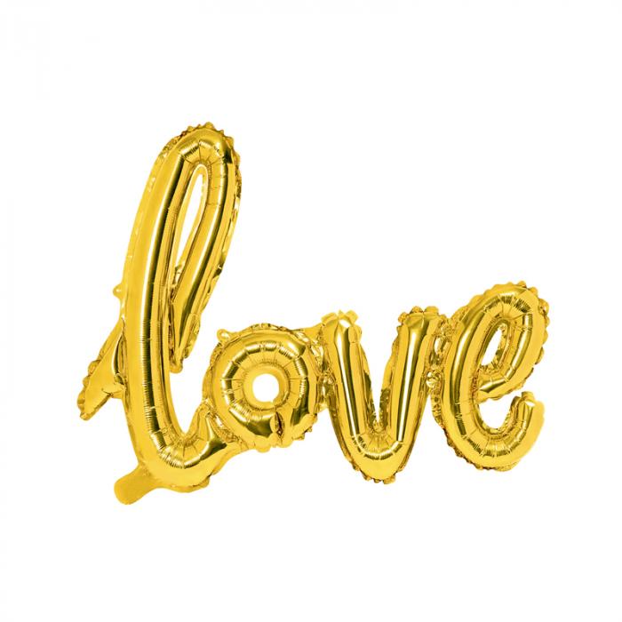 Balon Folie Love, Auriu - 73x59 cm 0