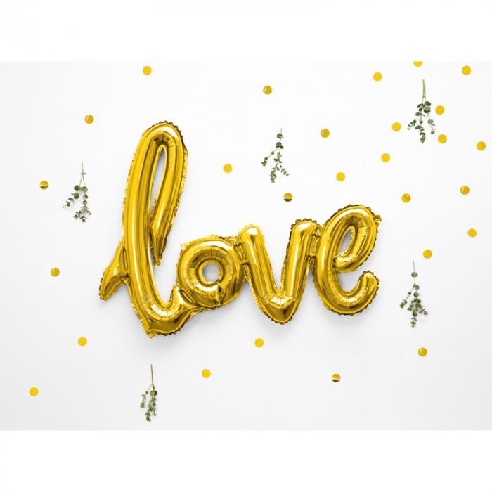 Balon Folie Love, Auriu - 73x59 cm 1