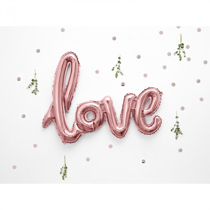 Balon Folie Love, Roz - 73x59 cm 1