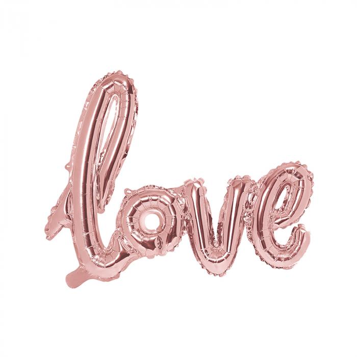 Balon Folie Love, Roz - 73x59 cm 0