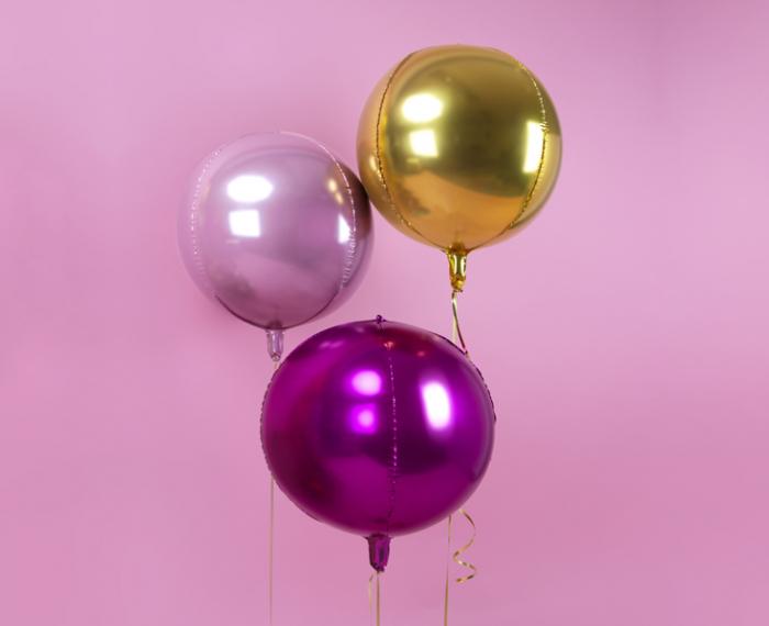 Balon Folie Sfera Roz Aprins - 40 cm 1