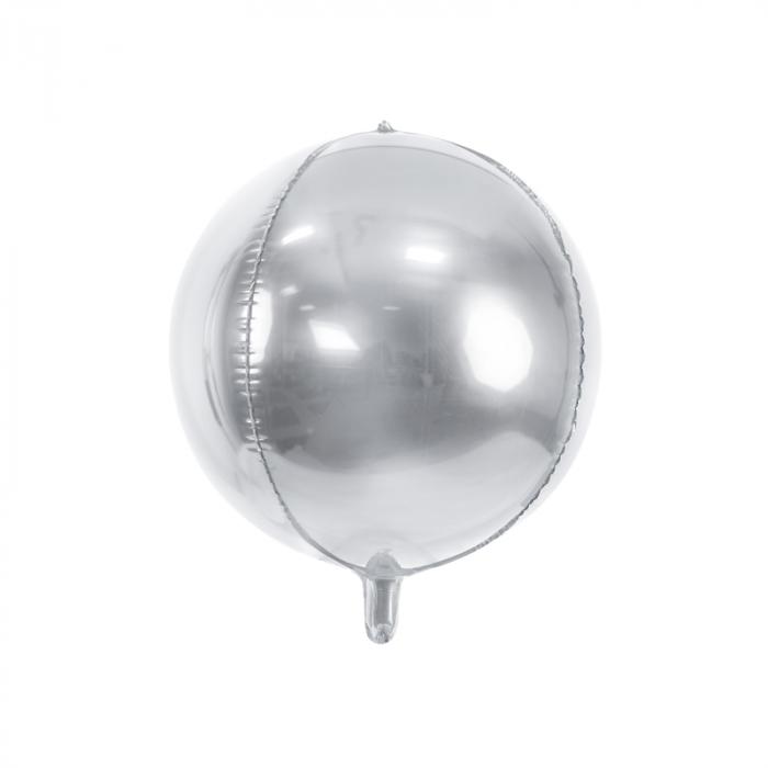Balon Folie Sfera, Argintiu - 40 cm 0