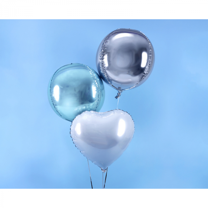 Balon Folie Sfera, Argintiu - 40 cm 2