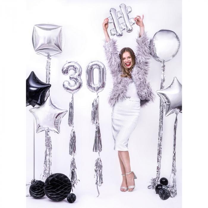 Balon Folie Sfera, Argintiu - 40 cm 3