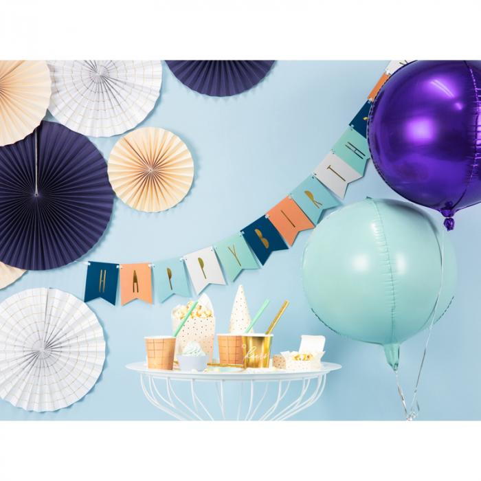 Balon Folie Sfera, Verde Menta - 40 cm [1]