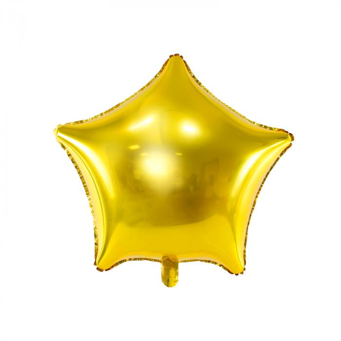 Balon Folie Stea, Auriu - 48 cm 0