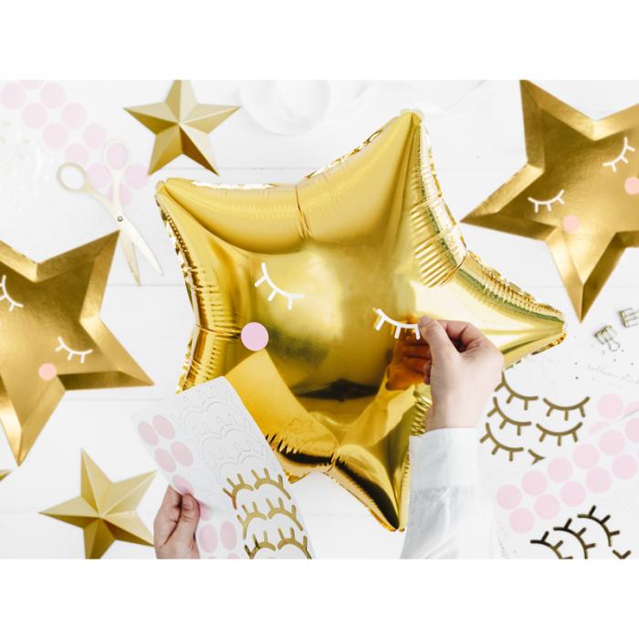 Balon Folie Stea, Auriu - 48 cm 3