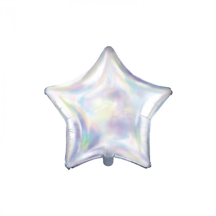 Balon Folie Stea, Iridescent - 48 cm 0
