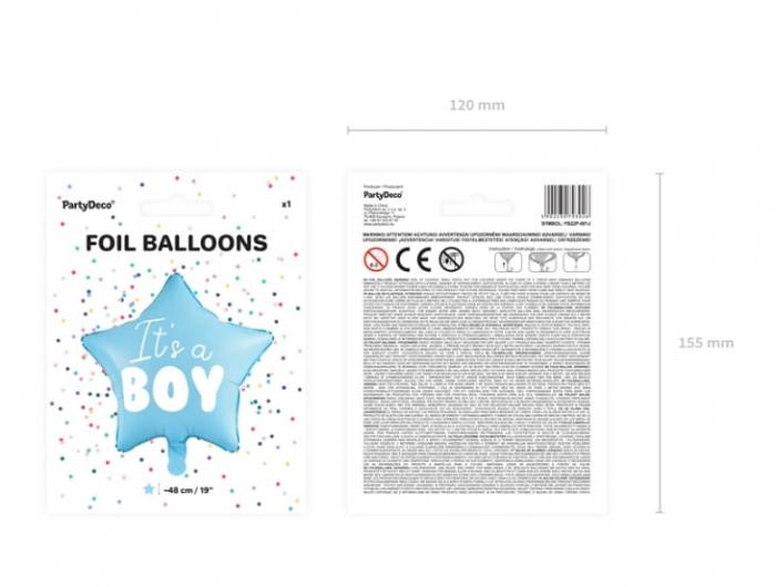 Balon Folie Stea, It's a Boy - 48 cm 7